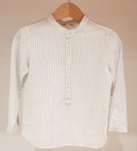Camicia bianca con righe azzurre, 3M-24M
