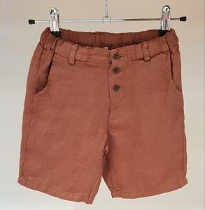 Pantaloncino ruggine con bottoni, 3M-12M