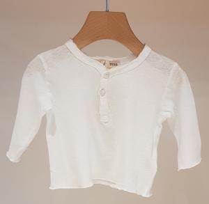 T-Shirt bianca con bottoni