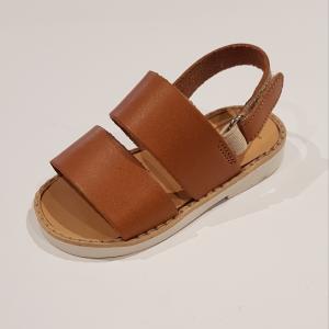 Sandali cammello con chiusura a strappo