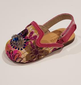 Scarpe multicolore con fantasia floreale