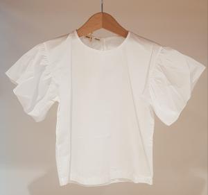 Blusa bianca con maniche ampie, 4A-10A