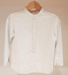 Camicia bianca con righe azzurre, 3A-10A