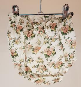 Culotte bianca con stampa fiori