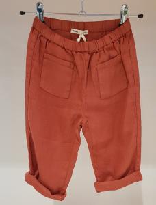 Pantalone mattone con tasche frontali, 4A-8A