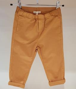 Pantalone mostarda con vita elasticizzata, 3A-10A