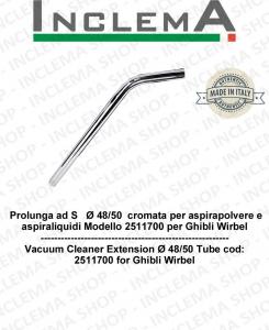 Extensión cromada de Ø 48/50 para aspiradora y aspiradora húmedas cod 2511700 para Ghibli Wirbel