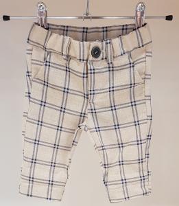 Pantalone panna con righe blu