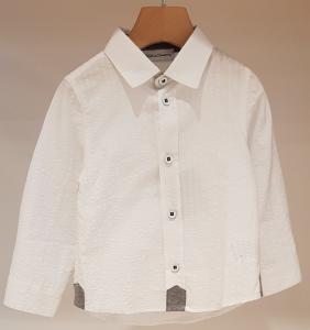 Camicia bianca con righe e dettaglio grigio