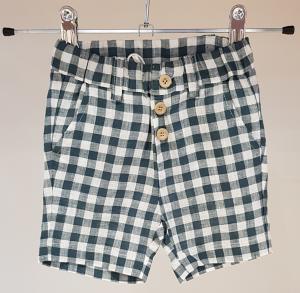 Pantaloncino a quadri bianchi e verdi