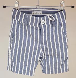 Pantaloncino azzurro con righe bianche