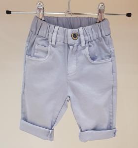 Pantalone celeste con vita elasticizzata