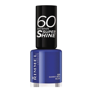 Rimmel London 60 Seconds Super Shine Nail Lacquer 828 Danny Boy Blue