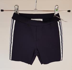 Pantaloncino blu scuro con bande a righe