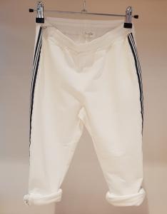 Pantalone bianco con bande a righe, M-L