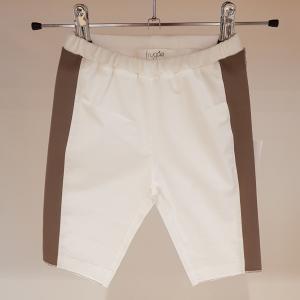 Pantalone bianco con bande beige