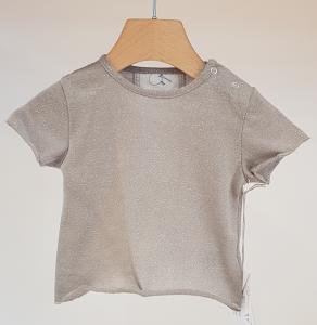 T-Shirt grigia glitter