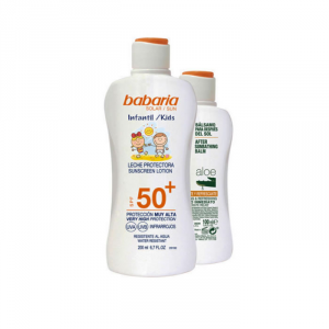 Babaria Sun Kids Sunscreen Lotion Water Resistant Spf50 200ml Set 2 Parti 2019