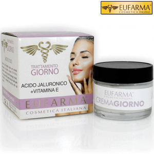 EUFARMA CREMA VISO GIORNO ACIDO IALURONICO + VITAMINA E 50 ML MADE IN ITALY