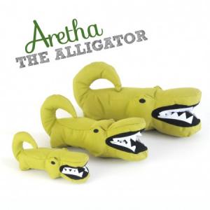 Aretha l'Alligatore - Peluche in stoffa imbottiti per cani
