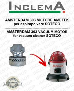 AMSTERDAM 303 MOTORE ASPIRAZIONE AMETEK per aspirapolvere SOTECO
