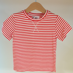 T-Shirt a righe bianche e rosse