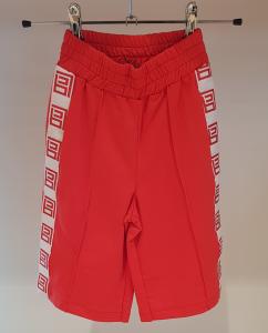 Pantalone rosso in felpa con bande bianche e loghi rossi