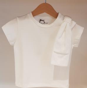 T-Shirt bianca con grande fiocco
