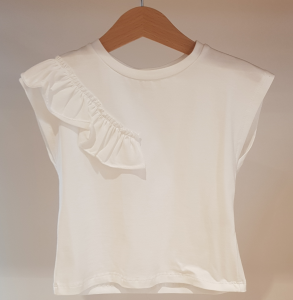 T-Shirt bianca con rouge