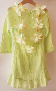 Vestito lime con fiori