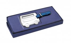 Targhetta per valigia bus in silver plated cm.14x6,5x3h