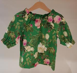 Camicia verde con stampa fiori