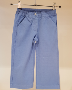Pantalone azzurro ampio