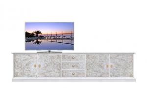 """Mobile porta tv """"GrandVision"""" con effetto spatolato"""