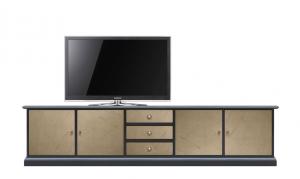 """Mobile porta tv """"GrandVision"""" con ante bronzate"""