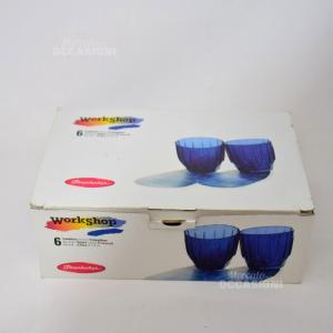 6 Bicchieri Blu