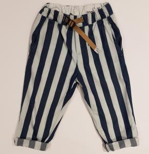 Pantalone a righe blu e celesti