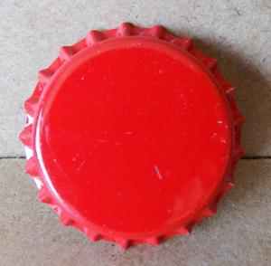 Tappi corona anonimo rosso diam.26 confezione da 100 PZ.