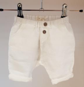 Pantalone bianco con bottoni
