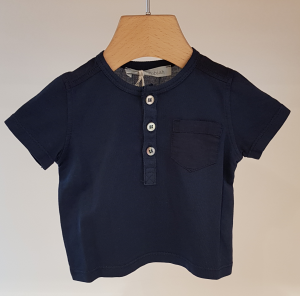 T-Shirt blu scura con taschino