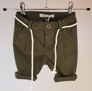 Pantalone verde militare con laccio latte, 3M-24M