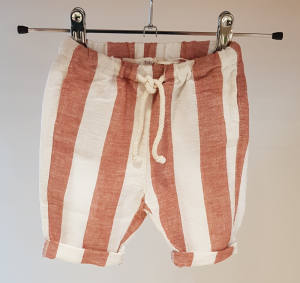 Pantalone a righe latte e mattone, 3M-24M