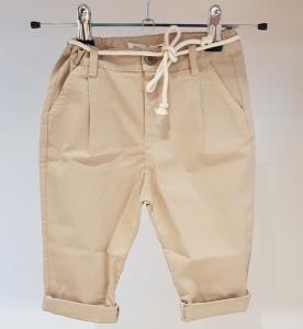 Pantalone beige con laccio latte