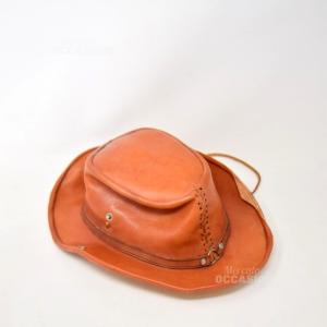 Cappello In Vera Pelle Cowboy