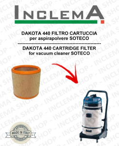 DAKOTA 440 FILTRO CARTUCCIA per aspirapolvere SOTECO