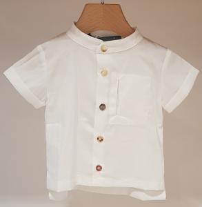 Camicia latte con colletto coreano