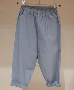 Pantalone celeste con vita elasticizzata, 3A-10A