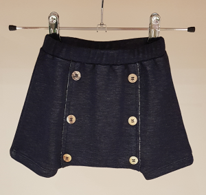 Pantaloncino blu scuro in felpa