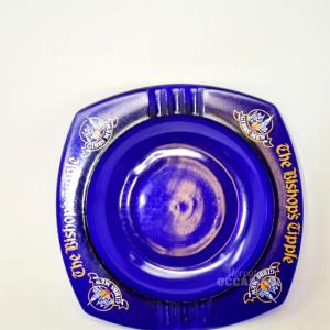 Posacenere Da Collezione Vetro Blu The Bishop's Tipple Gibbs Mew