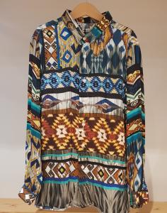 Camicia con stampe multicolore
